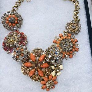 J. Crew Coral Flower Lattice Necklace